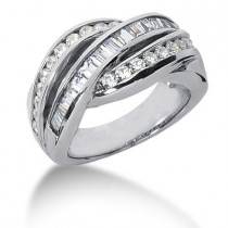 Platinum Ladies Diamond Ring 1.76ct