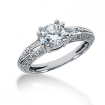 Platinum Ladies Diamond Ring 1.78ct