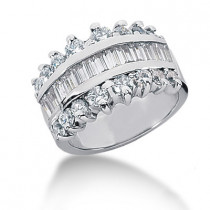 Platinum Ladies Diamond Ring 1.79ct