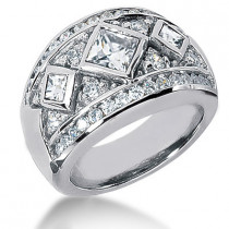 Platinum Ladies Diamond Ring 1.87ct