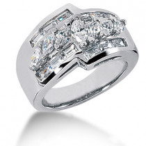 Platinum Ladies Diamond Ring 1.90ct