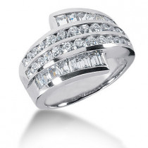 Platinum Ladies Diamond Ring 1.98ct