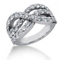 Platinum Ladies Diamond Ring 1ct
