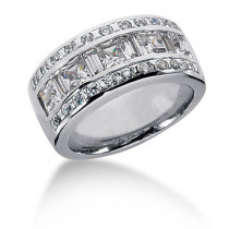 Platinum Ladies Diamond Ring 2.07ct