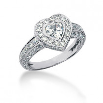 Platinum Ladies Diamond Ring 2.08ct