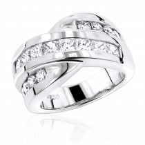 Platinum Ladies Diamond Ring 2.16ct