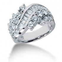Platinum Ladies Diamond Ring 2.19ct