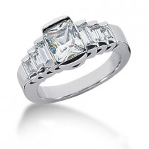 Platinum Ladies Diamond Ring 2.22ct