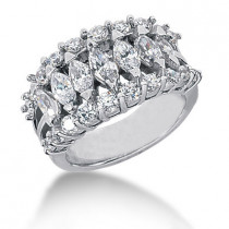 Platinum Ladies Diamond Ring 2.25ct