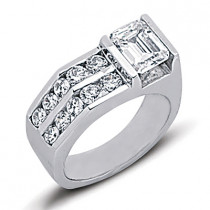 Platinum Ladies Diamond Ring 2.30ct