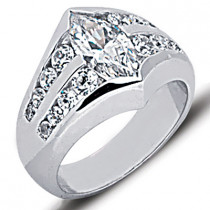 Platinum Ladies Diamond Ring 2.35ct