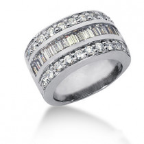 Platinum Ladies Diamond Ring 2.56ct
