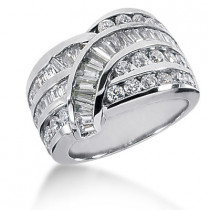 Platinum Ladies Diamond Ring 2.63ct