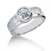 Platinum Ladies Diamond Ring 2.68ct