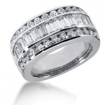 Platinum Ladies Diamond Ring 2.84ct