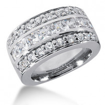 Platinum Ladies Diamond Ring 2.96ct
