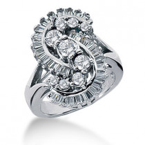 Platinum Ladies Diamond Ring 2ct