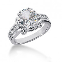 Platinum Ladies Diamond Ring 3.05ct