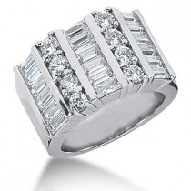 Platinum Ladies Diamond Ring 3.36ct