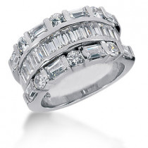 Platinum Ladies Diamond Ring 3.48ct