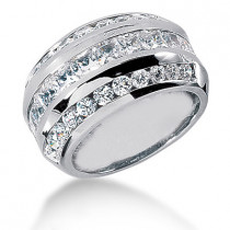 Platinum Ladies Diamond Ring 3.57ct