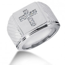 Platinum Men's Diamond Ring 0.23ct