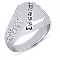Platinum Men's Diamond Ring 0.25ct