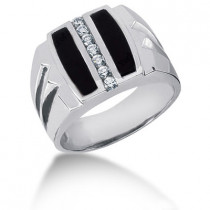Platinum Men's Diamond Ring 0.28ct