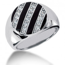 Platinum Men's Diamond Ring 0.35ct