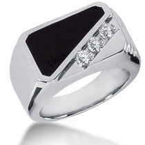 Platinum Men's Diamond Ring 0.45ct