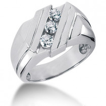 Platinum Men's Diamond Ring 0.51ct
