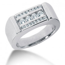Platinum Men's Diamond Ring 0.56ct