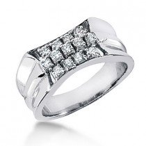 Platinum Men's Diamond Ring 0.65ct