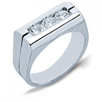 Platinum Men's Diamond Ring 0.75ct