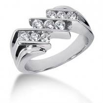 Platinum Men's Diamond Ring 0.84ct