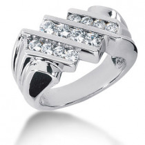 Platinum Men's Diamond Ring 1.04ct