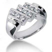 Platinum Men's Diamond Ring 1.08ct