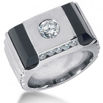 Platinum Men's Diamond Ring 1.15ct
