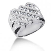 Platinum Men's Diamond Ring 1.54ct