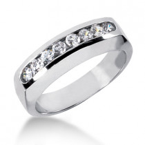 Platinum Men's Diamond Wedding Band 0.32ct