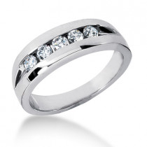 Platinum Men's Diamond Wedding Band 0.40ct