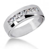 Platinum Men's Diamond Wedding Band 0.63ct