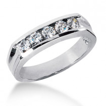 Platinum Men's Diamond Wedding Band 0.75ct