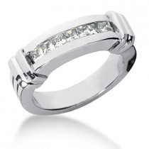 Platinum Men's Diamond Wedding Band 0.98ct