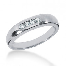 Platinum Men's Diamond Wedding Ring 0.20ct