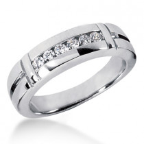 Platinum Men's Diamond Wedding Ring 0.28ct