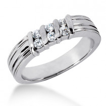 Platinum Men's Diamond Wedding Ring 0.30ct