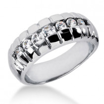 Platinum Men's Diamond Wedding Ring 0.53ct