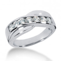 Platinum Men's Diamond Wedding Ring 0.56ct