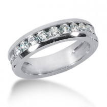 Platinum Men's Diamond Wedding Ring 0.63ct